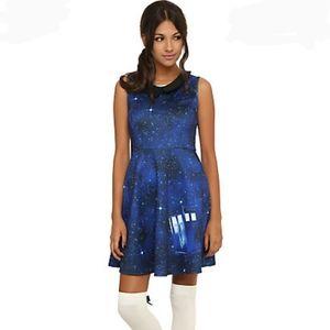 EUC Hot Topic BBC Dr. Who Tardis Galaxy Dress